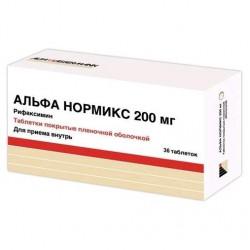 Альфа нормикс, табл. п/о пленочной 200 мг №36