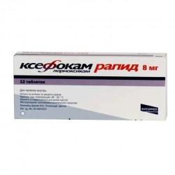 Ксефокам рапид, табл. п/о пленочной 8 мг №12